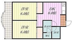 西岡第一ビル[5階]の間取り