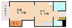 福岡県福岡市南区塩原2丁目の賃貸マンションの間取り