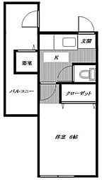 東京都中野区新井3丁目の賃貸アパートの間取り