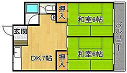 野崎コーポ[2階]の間取り