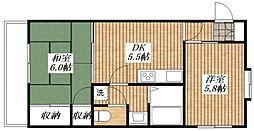 東京都昭島市昭和町3丁目の賃貸マンションの間取り