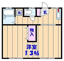サンコーポヤマブン[205号室]の間取り