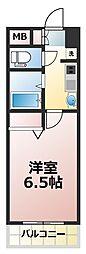 EC(エステムコート)新大阪VIIステーションプレミアム[6階]の間取り
