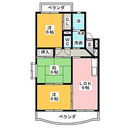 LaLa柿乃木坂[1階]の間取り