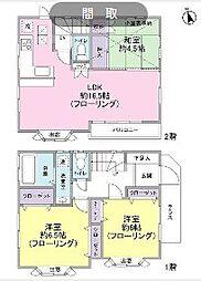 [一戸建] 東京都世田谷区喜多見4丁目 の賃貸【/】の間取り