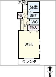 iMAGE 4階1Kの間取り