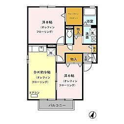 長野県長野市大字小島の賃貸アパートの間取り