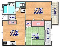エスペランサ魚崎[E-1803号室]の間取り