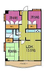 川口本町リハイム[5階]の間取り