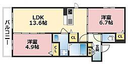 (仮称)東成区シャーメゾン中本5丁目計画[202号室号室]の間取り