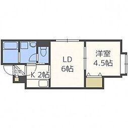北海道札幌市豊平区月寒東一条7丁目の賃貸アパートの間取り
