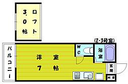 ルート新宮駅前C[2階]の間取り