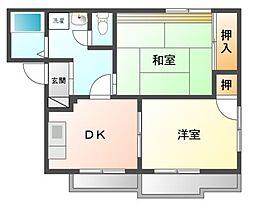 ルミエールA棟[2階]の間取り