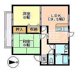 プランドールMITANI E棟[1階]の間取り