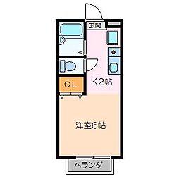 エステートピアサニーハイム[2階]の間取り