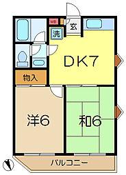 KURAMAハイツ[3階]の間取り