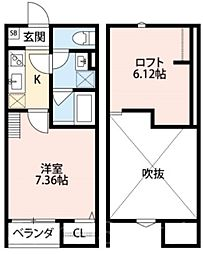 CuoreIshizu(クオーレイシヅ)[1階]の間取り