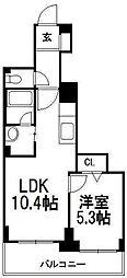 北海道札幌市豊平区美園十条4の賃貸マンションの間取り