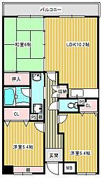 ボヌール御崎[2階]の間取り