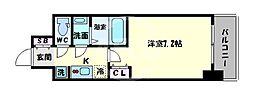 サムティ阿倍野昭和町 10階1Kの間取り