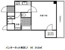 兵庫県神戸市中央区北長狭通8丁目の賃貸マンションの間取り