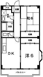 東京都町田市玉川学園4丁目の賃貸アパートの間取り