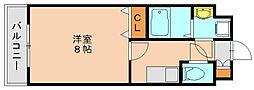 サヴォイザリバーテラス[3階]の間取り