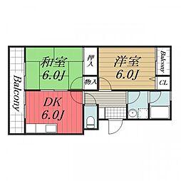 千葉県千葉市中央区汐見丘町の賃貸マンションの間取り