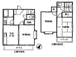 [テラスハウス] 神奈川県横浜市都筑区牛久保西3丁目 の賃貸【/】の間取り