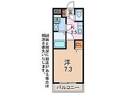 プラッツ上石田[3階]の間取り