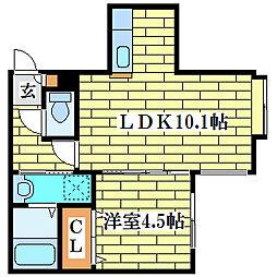 パルティールTM清田[3階]の間取り
