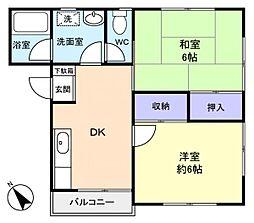 ハイツ八千代台II[2階]の間取り