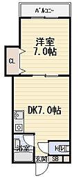 第2八絋マンション[2階]の間取り