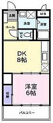 大阪府和泉市尾井町1丁目の賃貸マンションの間取り