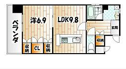 ラクーレV[6階]の間取り