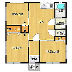 [一戸建] 栃木県日光市大室 の賃貸【/】の間取り