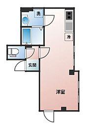 都営新宿線 曙橋駅 徒歩3分の賃貸マンション 1階ワンルームの間取り
