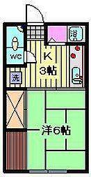 埼玉県さいたま市見沼区大字南中丸の賃貸アパートの間取り