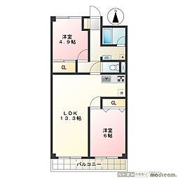 ソーワ豪徳寺マンション[3階]の間取り