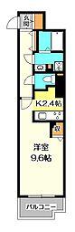 ビュートップ桜並[5階]の間取り