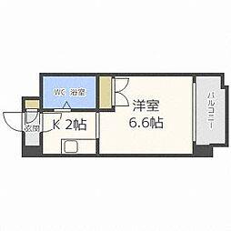 あおばビルN25[8階]の間取り