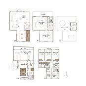 住居用参考プラン 建物面積:493.68(地下面積:121.04含む)