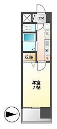 ヒルズ新栄[5階]の間取り