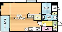 サンシャインⅢ[4階]の間取り