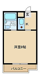 兵庫県姫路市東延末1丁目の賃貸マンションの間取り