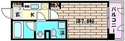 JR東海道・山陽本線 六甲道駅 徒歩5分の賃貸マンション 5階1Kの間取り