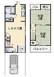 [一戸建] 大阪府堺市中区八田南之町 の賃貸【/】の間取り