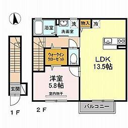 エスポワール平田[2階]の間取り