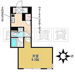 名古屋市営名城線 茶屋ヶ坂駅 徒歩9分の賃貸マンション 5階1Kの間取り