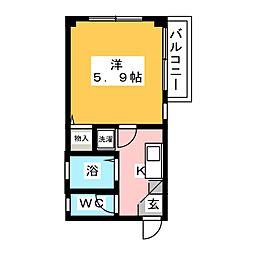 第2ナガリハイツ[1階]の間取り